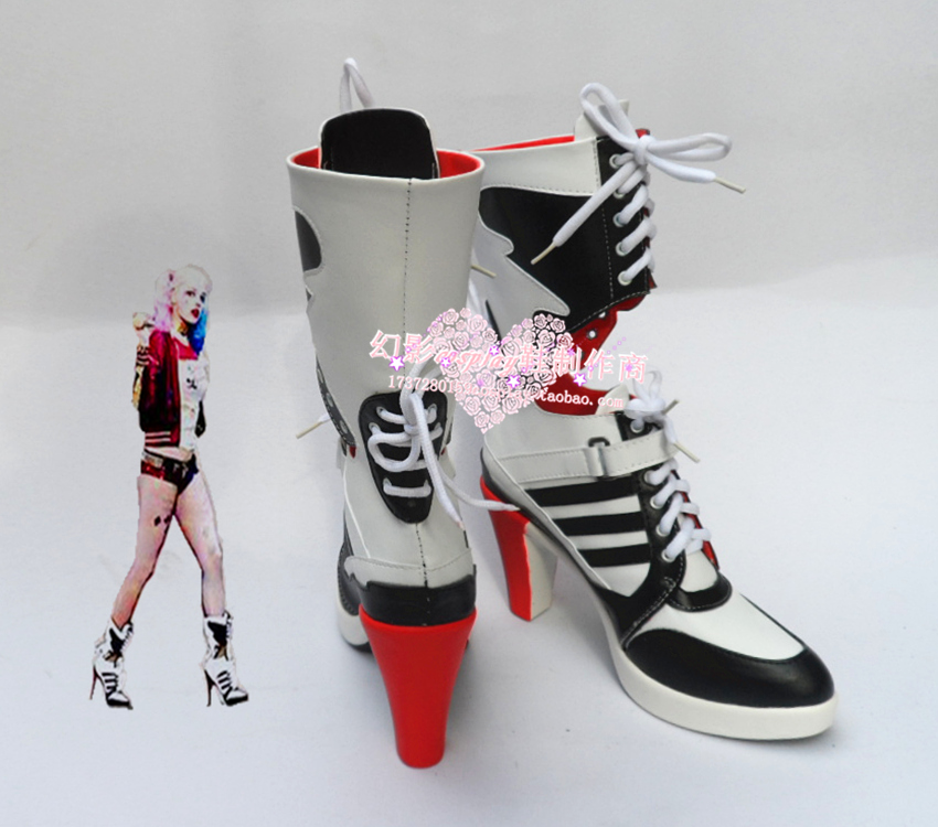 Anime Suicide Squad Harley Quinn anime Canvas Shoes women Boots Cosplay shoes