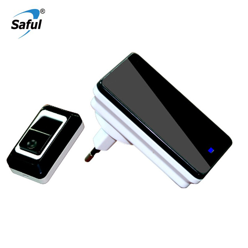 Saful Wireless Ring Door Bell 28 Ringtons Push/Tuch Waterproof 150M <font><b>Remote</b></font> EU/AU/UK/US Plug Chime Home <font><b>Doorbell</b></font> For Old People image