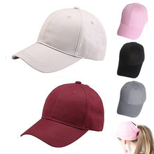 2018 Dad Hat Ponytail Snapback Baseball Cap Messy Bun Caps For Women Female Summer Trucker Hat 2018 Fashion Girl Hip Hop Hats(China)