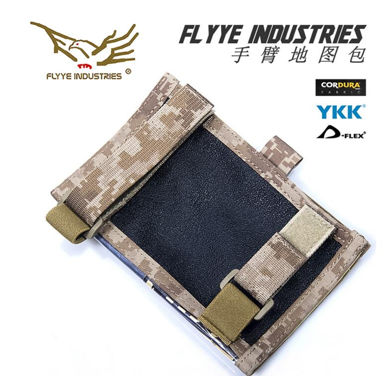 Free shipping In stock Flyye Genuine MOLLE waterproof nylon Tactical Armband Arm Map Pack Military  pouch  CORDURA  C027 jinjuli nylon tactical pouch