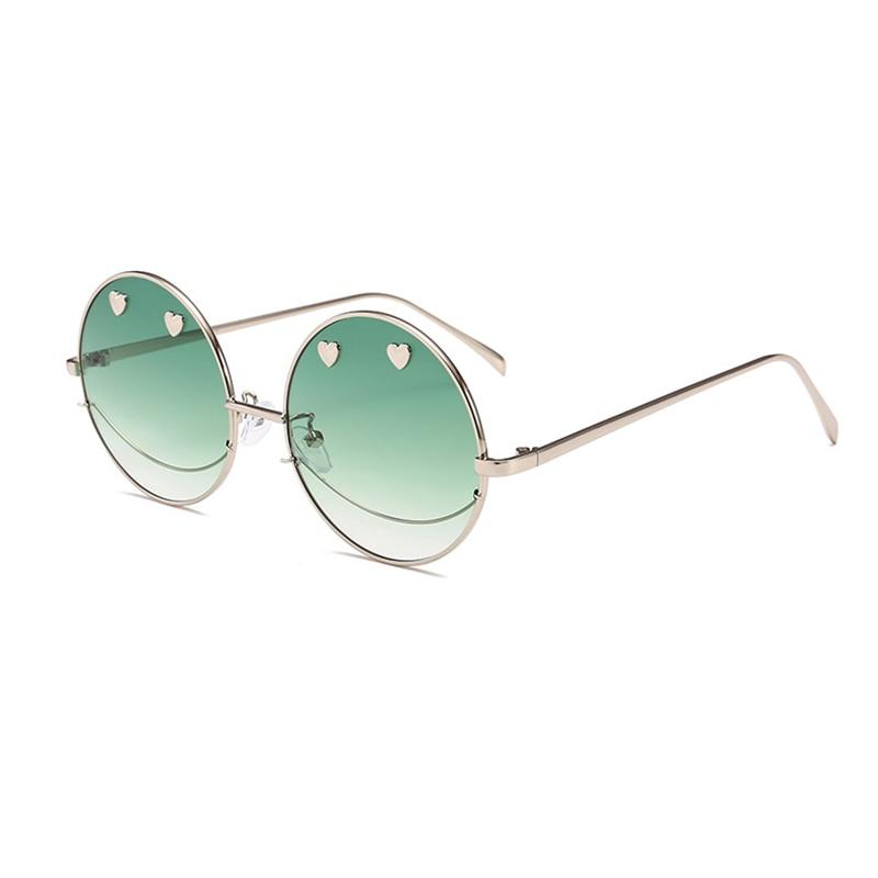 2019 Neuestes Design Neue Angekommene Frauen Sonnenbrille Mode Nette Herz Diamant Gläser Smiley Gesicht Brille Metall Runde Rahmen Brillen Oculos L3 Direktverkaufspreis