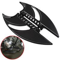 Мотоцикл черный подножки для ног спереди заготовки ноги доски и водителя половицы для Harley Touring Softail FLT FLHT