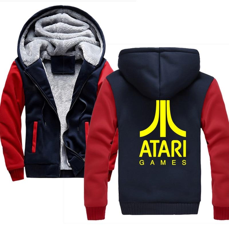 Fashion Men ATARI games Hooded Hoodies Sweatshirts 2019 Mens Hiphop Cardigan Male Hooded Sweatshirt men coat