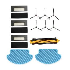 Image 1 - Ensemble multiple de pièces de rechange pour aspirateur Robot DE55 de6 g, en tissu, brosse latérale, avec filtre HEPA, brosses principales Ecovacs DEEBOT