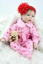 22 «высокое качество Силикона очаровательны Bonecas Детские Reborn Lifelike реалистичные bjd reborn bonecas для девушке Подарок