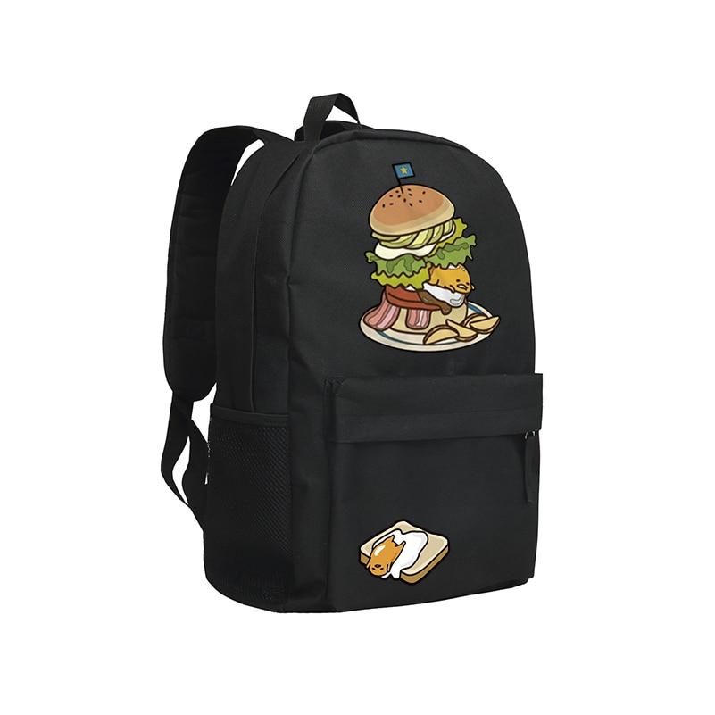 Cute School Bag For Teenagers Gudetama Backpack Boys and Girls Schoolbag Bookbag Kawaii Mochila Gudetama