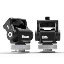 Camera Monitor Mount Mini Stand 180 Degree Tilt Arm Bracket Upper Rotation 360 Degree Base Rotations Adapter Holder 180 degree up