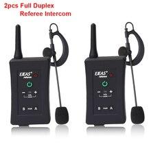 2pcs 2018 Latest EJEAS Brand Football Soccer Referee BT Intercom Motorcycle Intercom Full Duplex Bluetooth Referee Headset w/FM