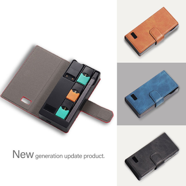 US $12 79 20% OFF|SHIODOKI Juul Charger Light Stable Power Carrying Travel  Charging Case Pu Leather Compatible with The JUUL for Your Pocket OrBag-in