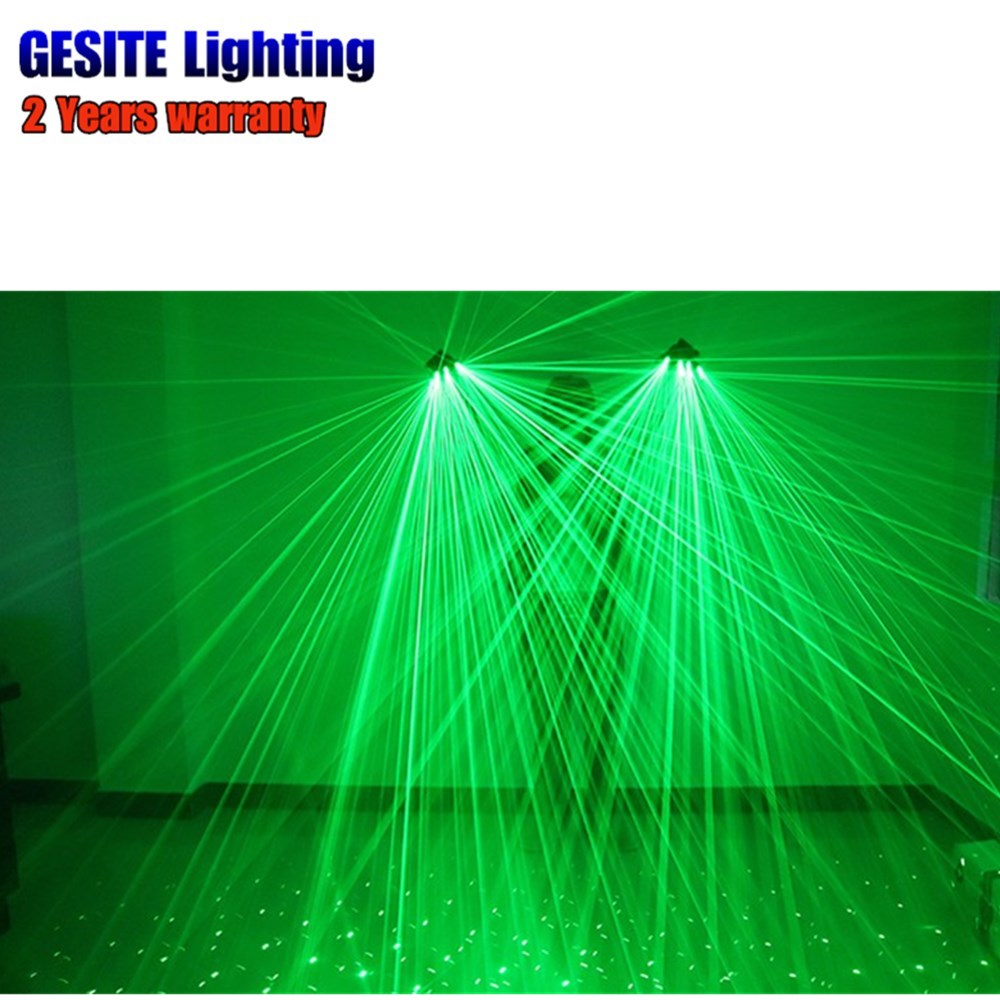 1 pair Green Dancing Show Stage  laser Gloves With Lasers LED Palm Light 2pcs