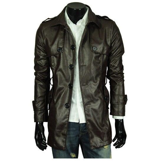 Внешней торговли реального выстрел XL высококлассные мужской из стираной кожи Мужская однобортный мужская кожаная куртка кожи раздел