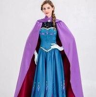 Dondurulmuş kostüm Anna Prenses Elbise animasyon Aisha yetişkin performans elbise coplay kostüm Yaz moda elbise Mavi lady elbise