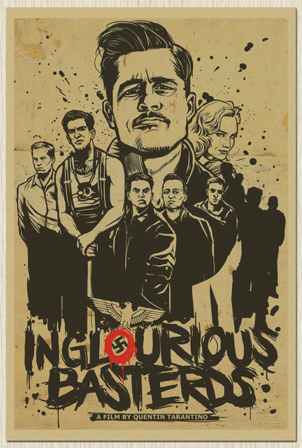 home decor vintage paper poster inglourious basterds classic old