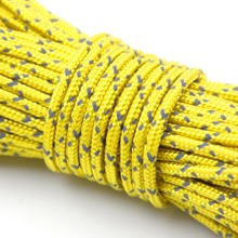 30M 500lb Reflective Cord 8 Strands Lanyard Rope Outdoor Hiking Camping Tent Wind Rope Nylon Core Polyester Sheath Climbing Rope