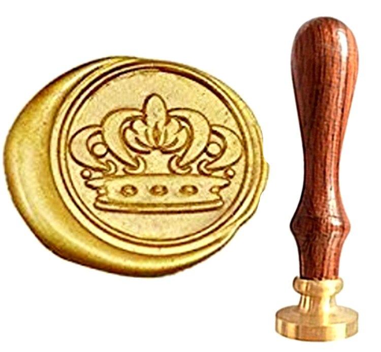 MDLG Vintage Crown Custom Picture Logo Luxury Wax Seal Sealing Stamp mdlg hippocampus vintage custom picture logo luxury wax seal sealing stamp