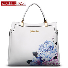 presell!–April 30–ZOOLER BRAND women leather bags top handle genuine leather bag 2017 new totes classic floral pattern  #10105