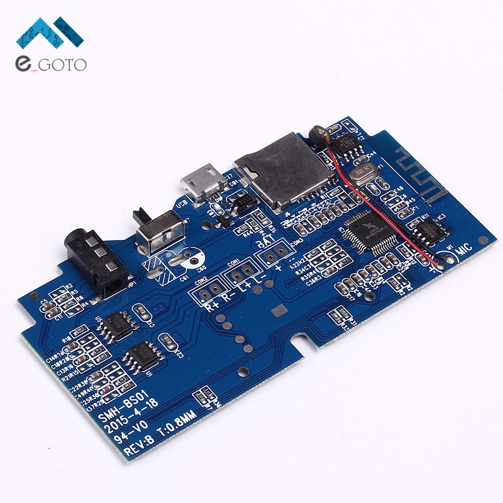 Bluetooth MP3 Decoder Board Wireless Audio Receiver Decoding Player Module Support FM Radio AUX TF Card U-Disk USB