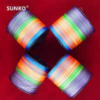 Genug 1000 Mt SUNKO Marke Bunte PE Multifilament Starke Braid Angelschnur 8 10 15 20 25 30 35 40 50 60 70LB