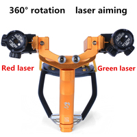New laser aiming slingshot powerful outdoor hunting shooting sports rubber band launch powerful slingshot With arm drag