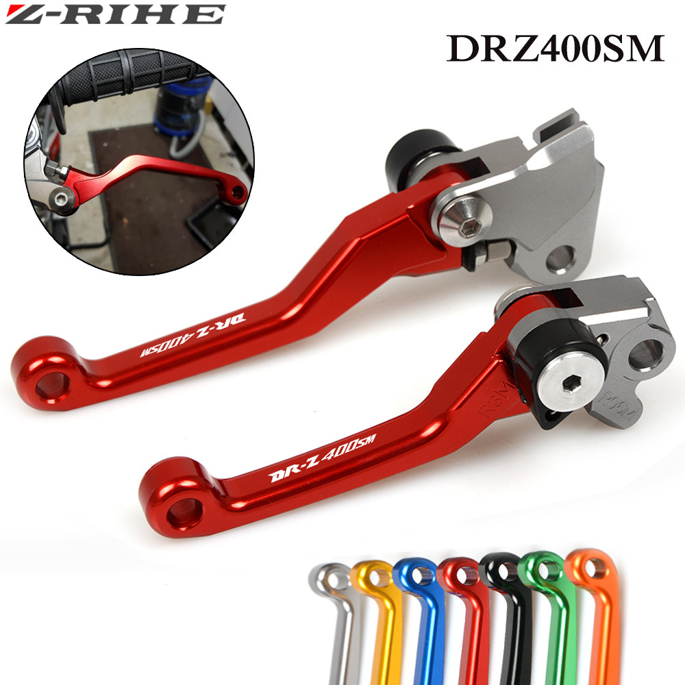 For Suzuki DRZ400SM DRZ400S DRZ 400 SM 2000-2015 2014 CNC Dirt Bike FLEX  Pivot Brake Clutch levers DR250R 1997-2000