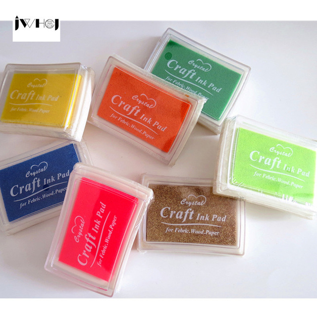 1pcs candy color stamp inkpad Kids DIY Handmade Scrapbook Photo Album students Stamps Arts,Craft gifts
