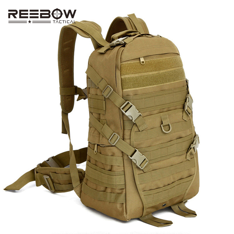 ФОТО 40L Outdoor Military Tactical Backpack MOLLE Army Combat Utility Nylon Bag Sports Camping Hiking SWAT Police Paintball Airsoft
