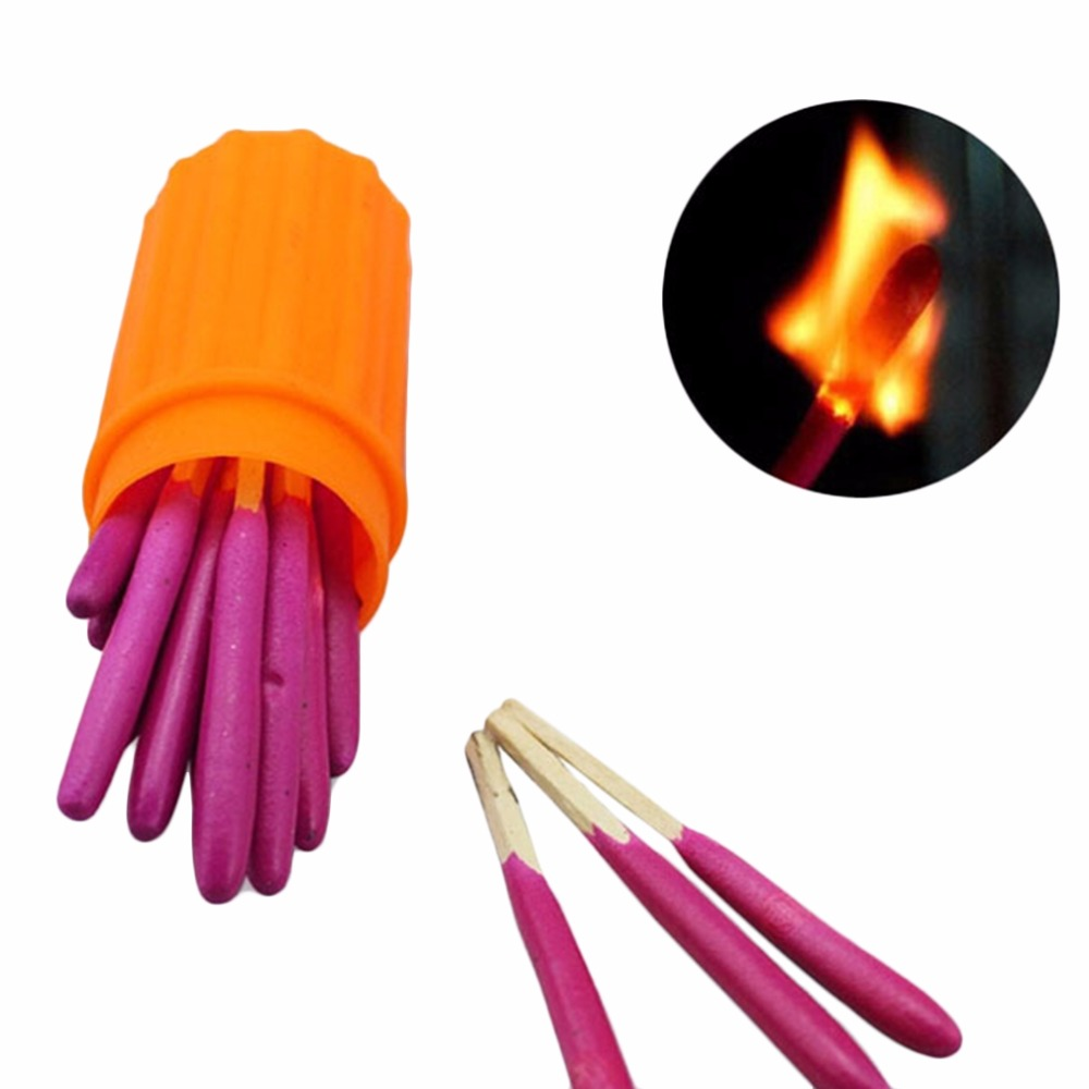 20pcs Matches Windproof Survival Emergency Light Lighter Matches Outdoor Sport Hiking Camping With box