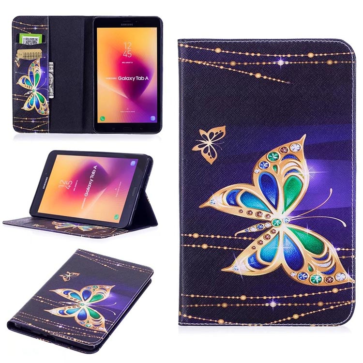 Tab A T380 T385 Tablet Case PU Leather Wallet Flip Cover Case For Samsung Galaxy Tab A 8.0 T380 SM-T385 8