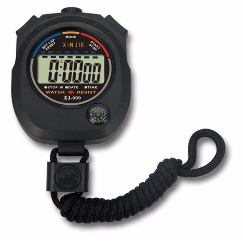 Waterproof Digital LCD Stopwatch Chronograph Timer Counter Sports Alarm