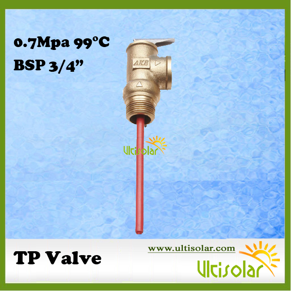 101/116/145PSI 210F WYA-20 0.7/0.8/1Mpa 99 TP Valve BSP3/4 Temperature and Pressure Relief Valve as TP Safety Valve 99C 9 25 dia thread yelow rubber head safety pressure relief valve zmm