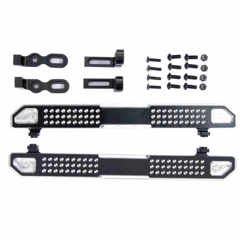 Partes modificadas Pedal de aluminio TRX4 deslizadores laterales simulados Pedal Lateral para 1/10 RC orugas parte del coche