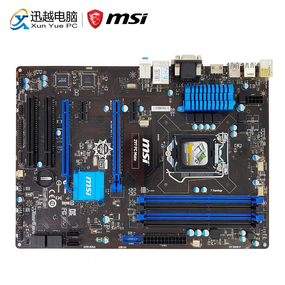 MSI Z97 PC COMPAGNON De Bureau Carte Mère Z97 Socket LGA 1150 i3 i5 i7 DDR3 32g SATA3 USB3.0 VGA DVI HDMI ATX