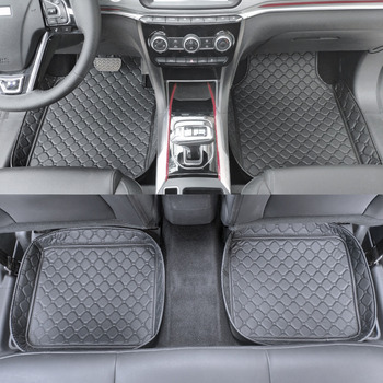 ZHAOYANHUA Car Floor Mats Universal Fit Mercedes Benz A B C E class W211 W212 W204 W205 W176 W169 W245 W246 carpet liners image