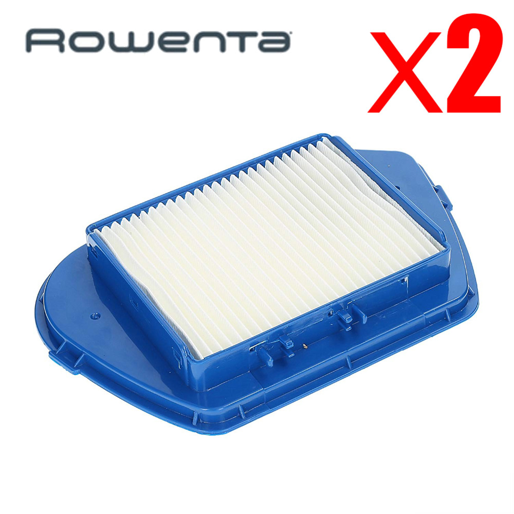 2Pcs Vacuum Cleaner Accessories Kit Parts Hepa Dust Filters For Rowenta Ro53 Compacteo Ergo Cyclone-zr005501 Zyklon ZR005501