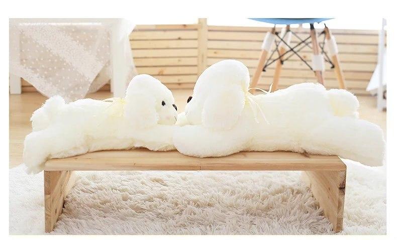 100 cm mignon peluche chien Reborn poupées en peluche jouets pour filles en peluche chien jouets en peluche animaux oreiller saint valentin cadeau enfants jouets
