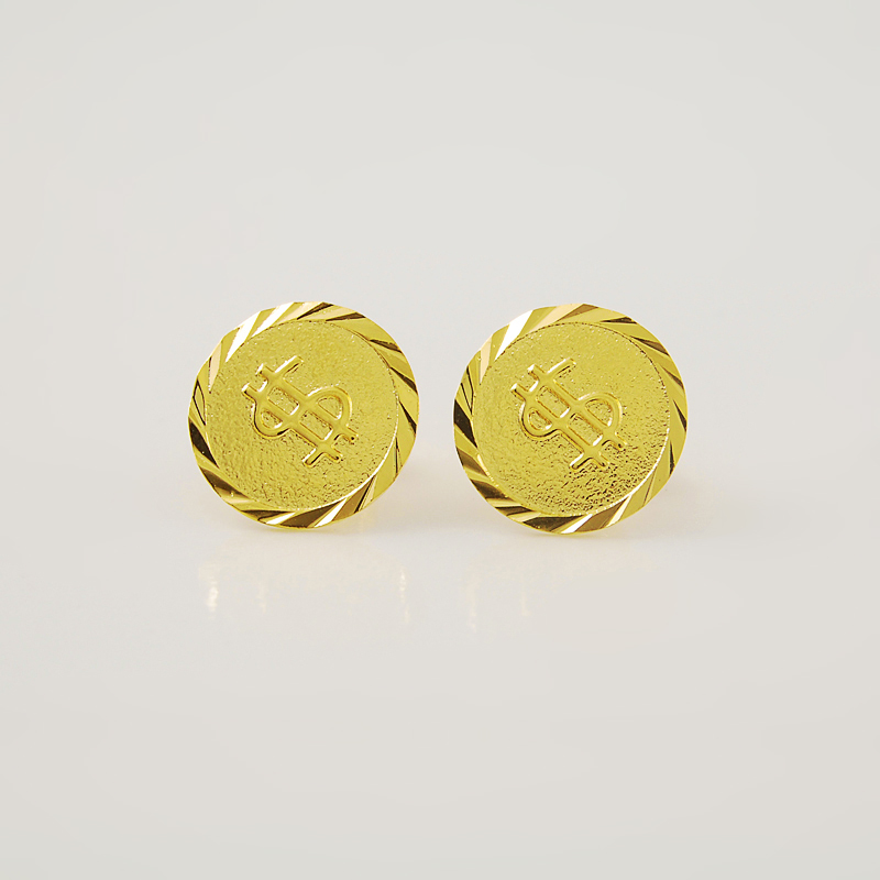 Online Shop New Fashion pure Gold COLOR 12mm round with ...