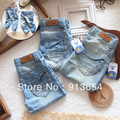 Free shipping Retail new 2013 Spring autumn children's jeans baby boy trousers girls casual pants single thin denim clothing
