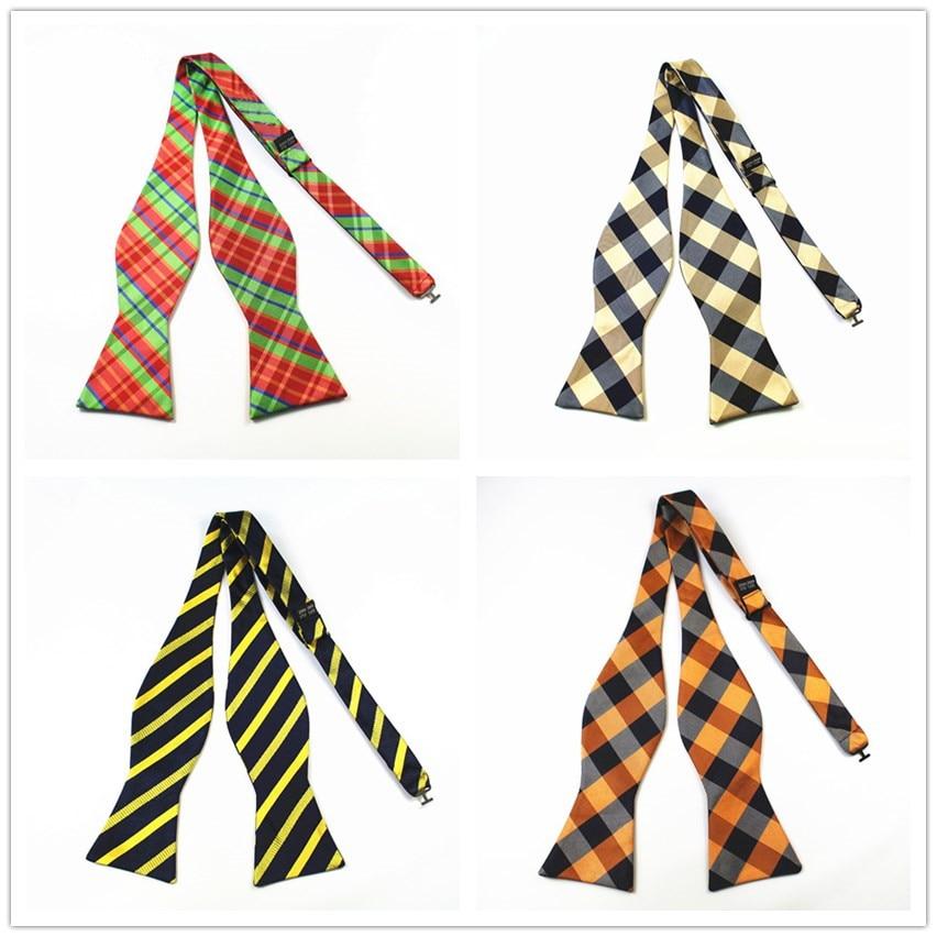 GUSLESON Gloednieuwe 100% Zijde Mens Zelf strikjes Luxe Vlakte Tie Bowtie Vlinders Noeud Papillon Business Bruiloft Multi-kleuren