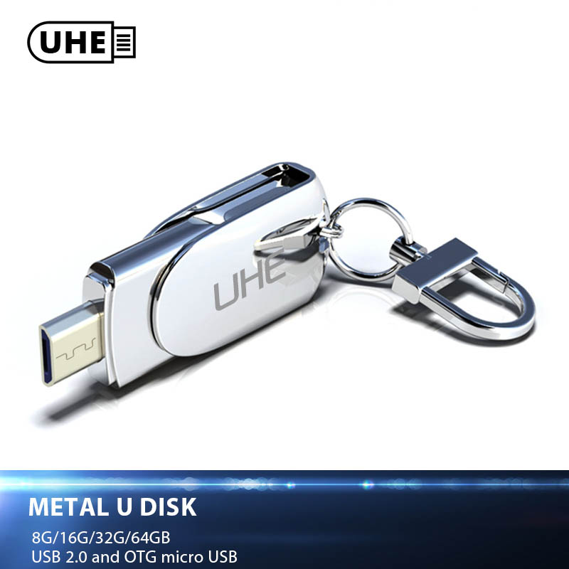 UHE Smart Android phone USB 2.0 Flash drive OTG USB Flash Drive Micro USB Flash Drive Quality Metal U Disk 8GB/16GB/32GB/64GB ...