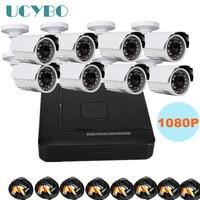 8 Channel Cctv Ahd Camera Dvr Kit Combo Outdoor Video Surveillance 1080P HD 2000TVL 2 0MP