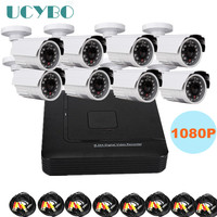 8 Channel Cctv Ahd Camera Dvr Kit Combo Outdoor Video Surveillance 1080P HD 2000TVL 2 0MP