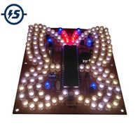 Música LED de luz en forma de mariposa DIY Kit de Control remoto de iluminación bricolaje Kits electrónicos piezas de lámparas LED electrónico Kit de bricolaje