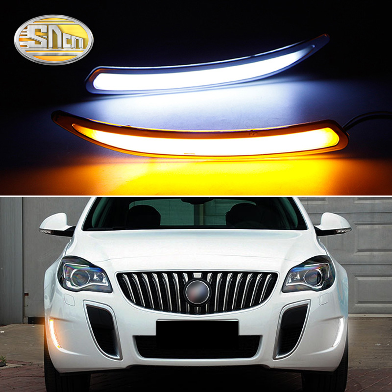 SNCN LED Daytime Running Light For Opel Insignia GS 2010 2014 2015 Car Accessories Waterproof ABS