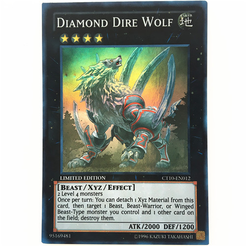 CT10-EN012 Diamond Dire Wolf Super Rare Limited Edition Mint YuGiOh Card
