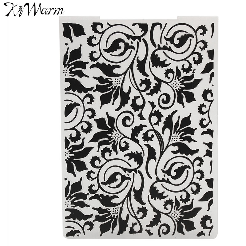 Feather Pattern Plastic Embossing Folder Cutting Dies Template Decoration For DI