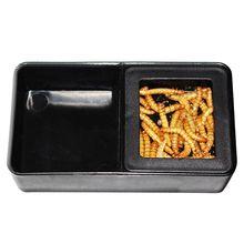 Черный пластик рептилии воды пищевой ящик Террариум для кормления разведение насекомых черепаха Pet