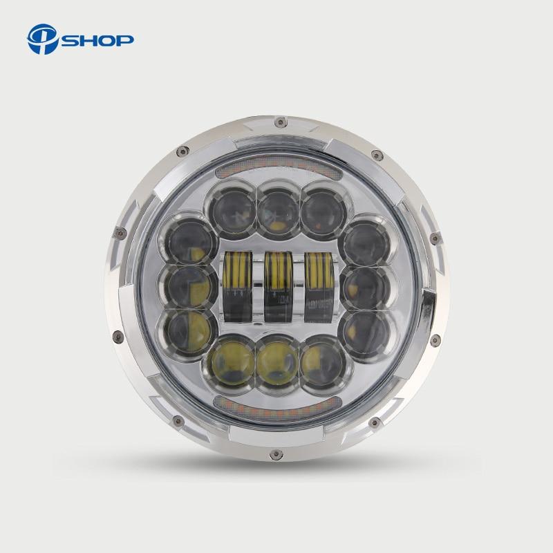 For Jeep Wrangler Defender Led Headlight 7inch Round High Low Beam DC 12v 24v External Lights headlamp For Lada 4x4 urban Niva