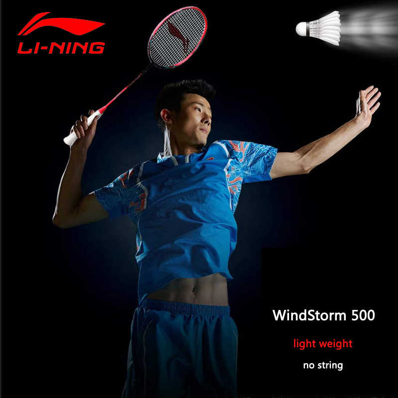 Li-Ning WindStorm 500 Defensive Badminton Racket Light Weight Carbon LiNing Single Sport Rackets AYPM004