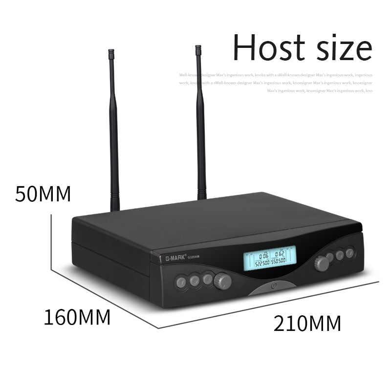 G-MARK G320AM ワイヤレスマイクシステムプロフェッショナル uhf 自動ハンドマイク周波数調整可能な 100 メートル受信