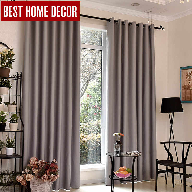 BHD modern blackout curtains for window treatment blinds finished drapes window blackout curtains for living room the bedroom